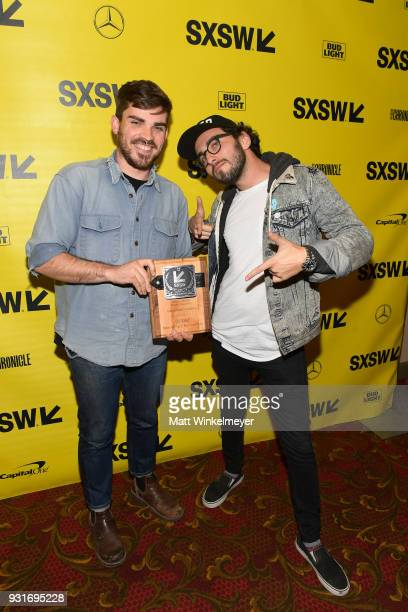 Animated Shorts Award winners for JEOM Micah Cordy and Jason Milov attend the SXSW Film Awards Show 2018 SXSW Conference and Festivals at Paramount...