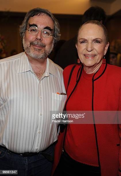 Animation critic and Historian Charles Solomon and Linda Jones Clough daughter of the animator Chuck Jones poses at the AMPAS' 15th Annual Marc Davis...