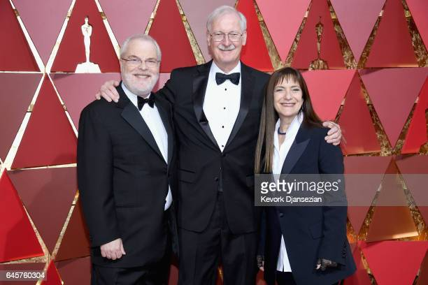 Animation directors Ron Clements John Musker and Producer Osnat Shurer attend the 89th Annual Academy Awards at Hollywood Highland Center on February...