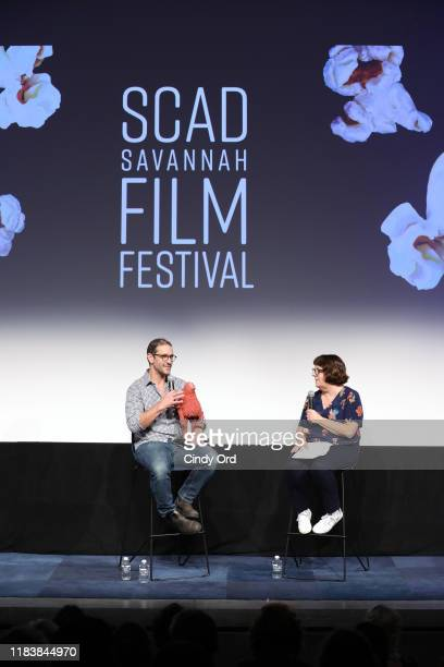 """Animation Supervisor Brad Schiff and Pat Saperstein speak onstage at the screening of """"Missing Link"""" during the 22nd SCAD Savannah Film Festival on..."""