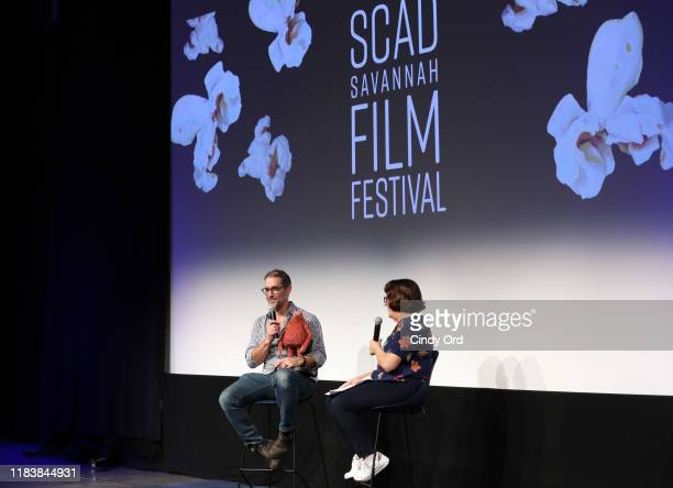 """Animation Supervisor Brad Schiff speaks onstage at the screening of """"Missing Link"""" during the 22nd SCAD Savannah Film Festival on October 27, 2019 at..."""