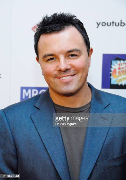 Animator and producer Seth MacFarlane arrives to attend the premiere of Seth MacFarlane's Cavalcade of Cartoon Comedy series of short animations at...