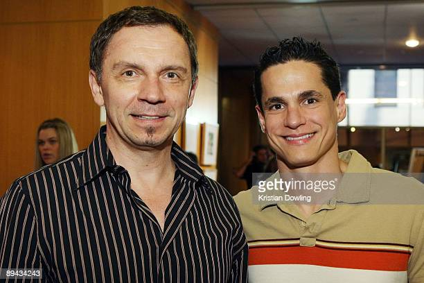 Animator Andreas Deja and Roger Viloria attend AMPAS' 14th Annual Marc Davis Celebration of Animation at the AMPAS Samuel Goldwyn Theater on July 28...