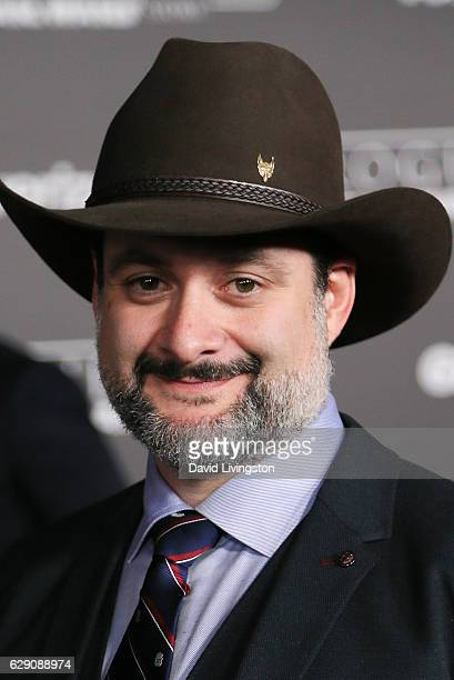 """Animator Dave Filoni arrives at the premiere of Walt Disney Pictures and Lucasfilm's """"Rogue One: A Star Wars Story"""" at the Pantages Theatre on..."""