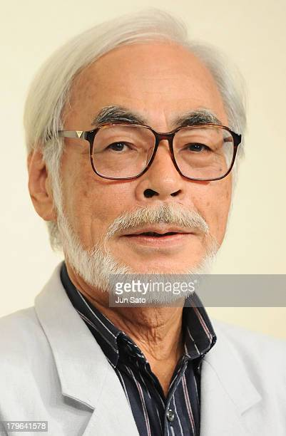 Animator/ Director Hayao Miyazaki attends a press conference to announce his retirement on September 6 2013 in Tokyo Japan