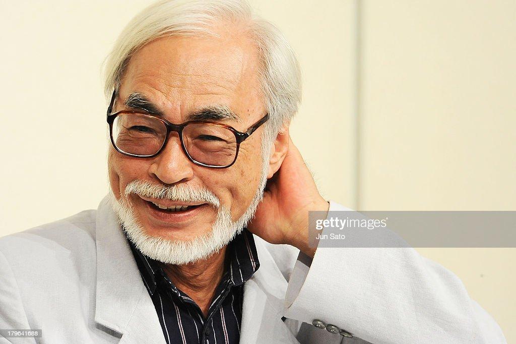 Hayao Miyazaki Retirement Press Conference : ニュース写真