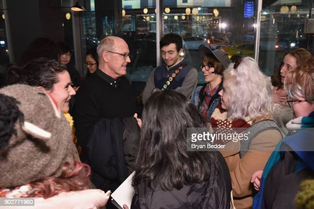 Animator Glen Keane speaks to guests during the 'Dear Basketball' screening and QA at The Landmark at 57 West on January 8 2018 in New York City