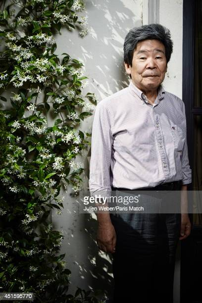 Animator Isao Takahata is photographed for Paris Match on June 12, 2014 in Paris, France.