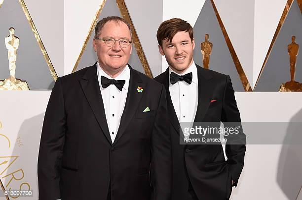 Foto van John Lasseter  & zijn Zoon  Bennett Lasseter