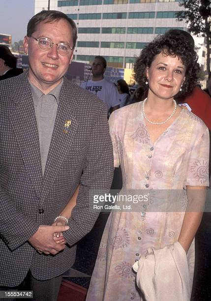 Animator John Lasseter and wife Nancy Trague attend the Toy Story Hollywood Premiere on November 19 1995 at El Capitan Theatre in Hollywood California