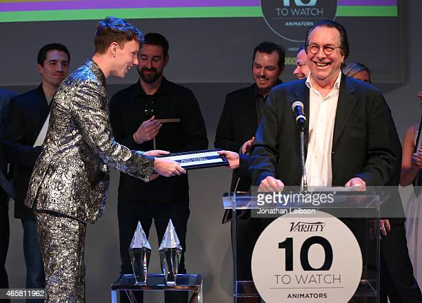 Animator Matt Layzell and Variety VicePresident Executive Editor Steven Gaydos speak onstage during the Variety and Nickelodeon 10 Animators To Watch...