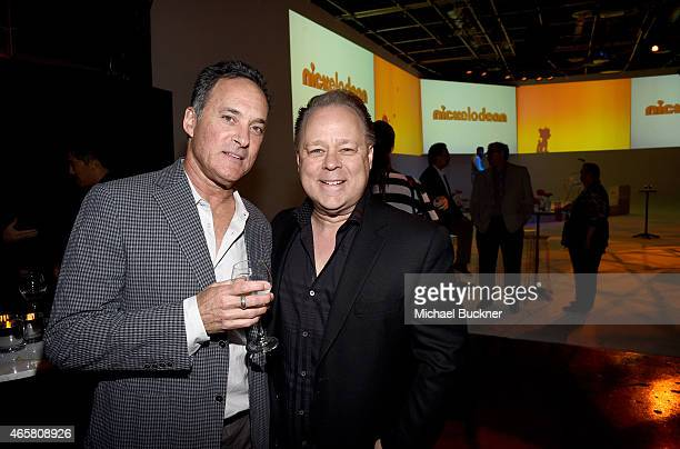Animator Mike Gabriel and director Kelly Asbury attend the Variety and Nickelodeon 10 Animators To Watch Event at Siren Studios on March 10 2015 in...