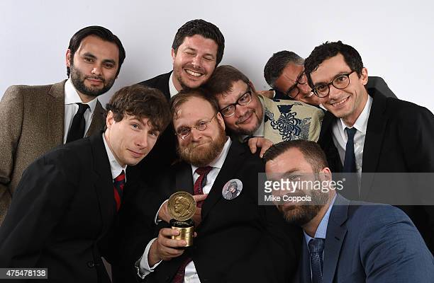 Animator Pendleton Ward poses with award during The 74th Annual Peabody Awards Ceremony at Cipriani Wall Street on May 31 2015 in New York City