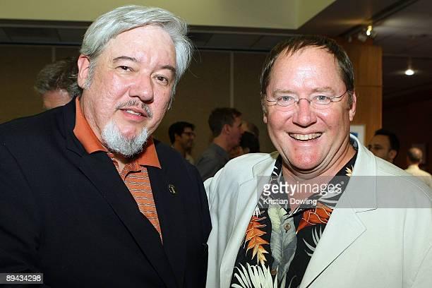 Animator Tom Sita and John Lasseter chief creative officer of Pixar and Disney Animation Studios and principal creative advisor of Walt Disney...