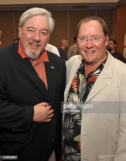 Animator Tom Sito and John Lasseter chief creative officer of Pixar and Disney Animation Studios attend AMPAS' 14th Annual Marc Davis Celebration of...