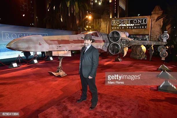 """Animator/director Dave Filoni attends The World Premiere of Lucasfilm's highly anticipated, first-ever, standalone Star Wars adventure, """"Rogue One: A..."""
