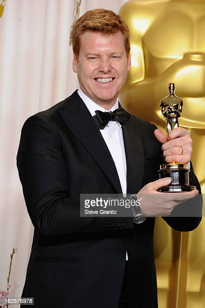 AnimatorJohn Kahrs poses in the press room during the Oscars at the Loews Hollywood Hotel on February 24, 2013 in Hollywood, California.