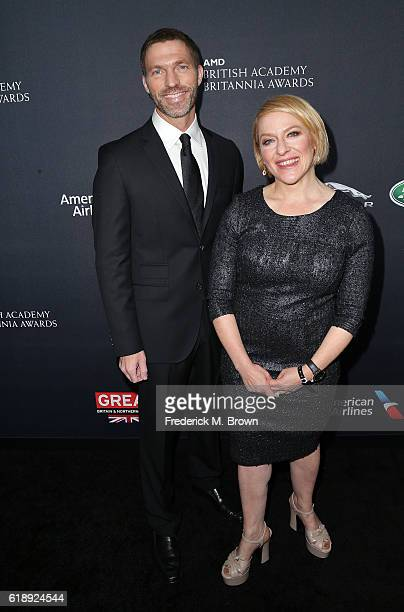 Animators Travis Knight and Arianne Sutner attend the 2016 AMD British Academy Britannia Awards presented by Jaguar Land Rover and American Airlines...
