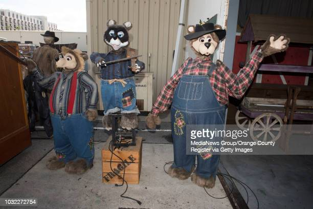Animatronic bears from the Knott's Beary Tales attraction are among the items being auctioned off by Knott's Berry Farm in March during a tour of...