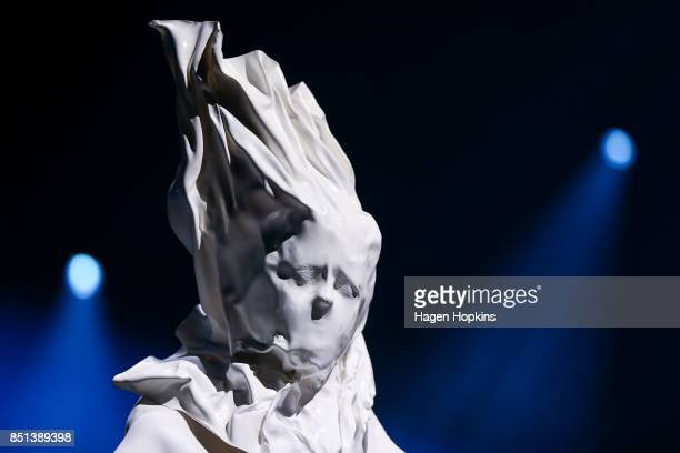 'Animism' by Gayane Arzumanova and Yui Jiang of the United Kingdom is modelled in the Avantgarde Section during the World of WearableArt Awards 2017...