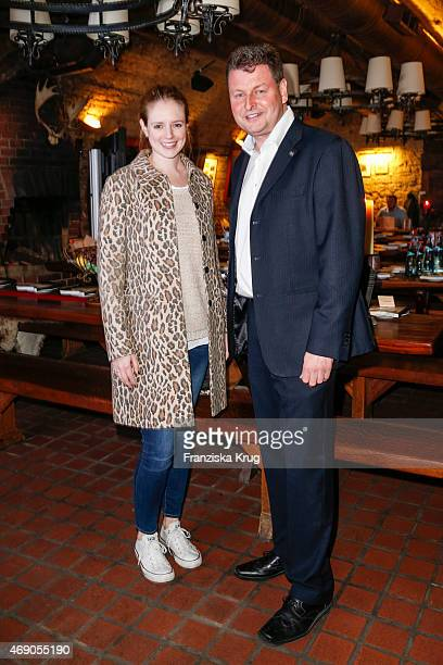 Anina Haghani and Ralph Fuerther attend the German premiere of Game of Thrones S5 at Apfelwein Klaus which starts on April 12th on Sky in Germany and...