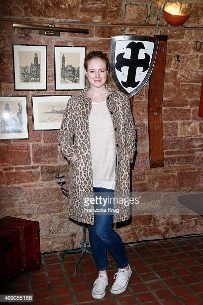 Anina Haghani attends the German premiere of Game of Thrones S5 at Apfelwein Klaus which starts on April 12th on Sky in Germany and Austria on April...