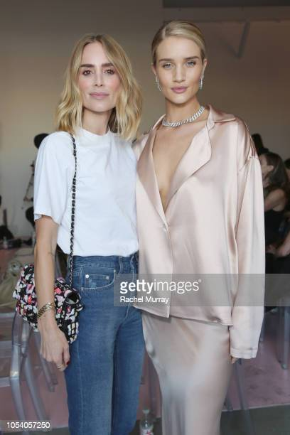 Anine Bing and Rosie HuntingtonWhiteley attend Rose Inc bareMinerals Beauty Master Class at Goya Studios on October 26 2018 in Los Angeles California