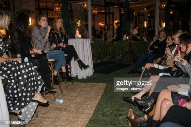 Anine Bing cohosts the She's The Boss Panel at Palisades Village on October 25 2018 in Pacific Palisades California