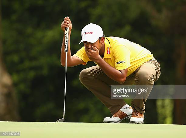 Anirban Lahiri of India looks on during the final round of the UBS Hong Kong Open at The Hong Kong Golf Club on October 25 2015 in Hong Kong Hong Kong