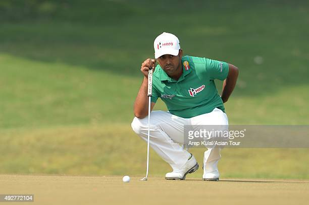Anirban Lahiri of India pictured during round one of the Venetian Macao Open at Macau Golf and Country Club on October 15 2015 in Macau Macau