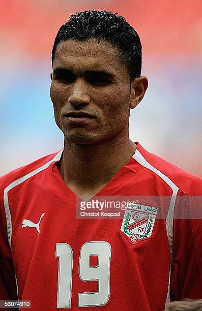 Anis Ayari of Tunisia before the FIFA Confederations Cup Match between Argentina and Tunisia at the Rhein Energy Stadium on June 15 2005 in Cologne...