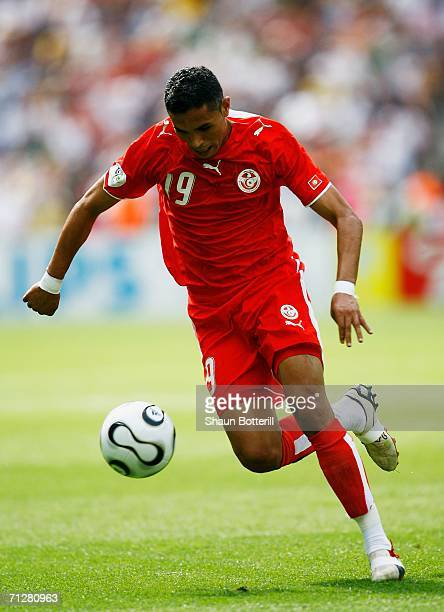Anis Ayari of Tunisia in action during the FIFA World Cup Germany 2006 Group H match between Ukraine and Tunisia played at the Olympic Stadium on...