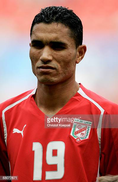 Anis Ayari of Tunisia is pictured before the FIFA Confederations Cup Match between Argentina and Tunisia at the Rhein Energy Stadium on June 15 2005...