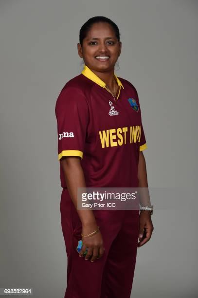 Anisa Mohammed of West Indies on June 19 2017 in Leicester England