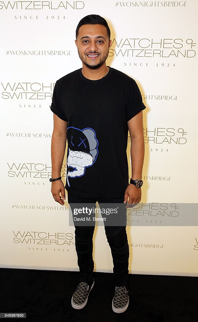 Anish Bhatt attends Watches Of Switzerland Knightsbridge Launch on July 7, 2016 in London, England.