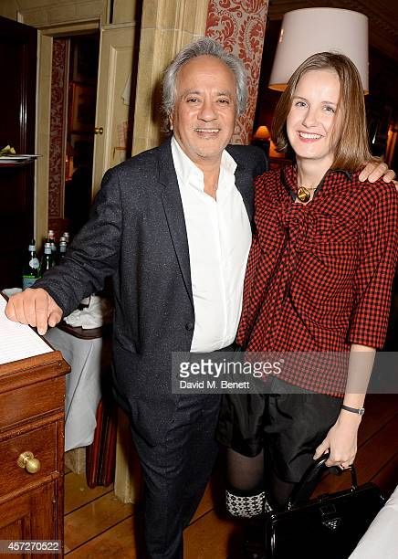 Anish Kapoor and Sophie Walker attend the Charles Finch and Jean Pigozzi dinner with Mulberry Chairman Godfrey Davis at Harry's Bar on October 15...
