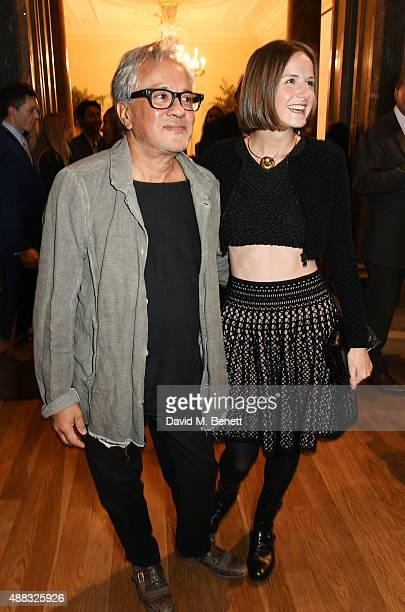 Anish Kapoor and Sophie Walker attend the opening reception to celebrate the Ai Weiwei exhibition at The Royal Academy of Arts on September 15 2015...