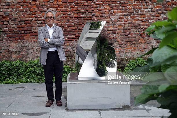 Anish Kapoor attends Anish Kapoor preview at Lisson Gallery Milan on May 12 2016 in Milan