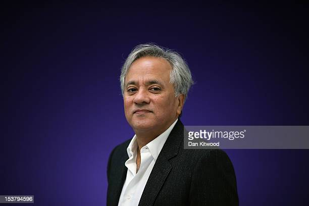 Anish Kapoor poses during a press preview at the Lisson Gallery on October 9 2012 in London England The solo exhibition celebrates 30 years of the...