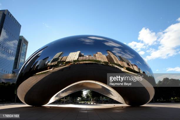 Anish Kapoor's 'Cloud Gate' sits in Millennium Park in Chicago Illinois on JULY 24 2013