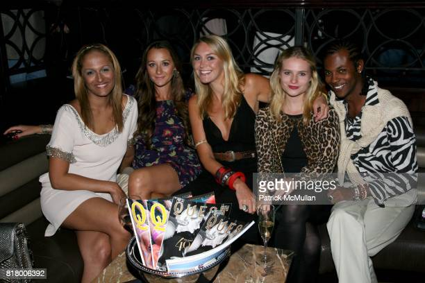 Anisha Lakhani Alexandra Osipow Laura Glaister and JJ Percentie attend QUEST MAGAZINE What2WearWherecom hosts a soft launch of LAVO at 38 E 58th St...