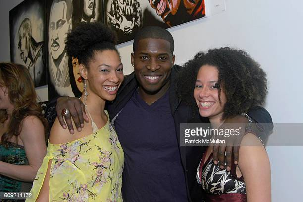 Anishika Godfrey and Tiffany Barber attend Olympic Artist Jesse Raudales 'Peace for the Children' Art Show' at Los Angeles on February 9 2007