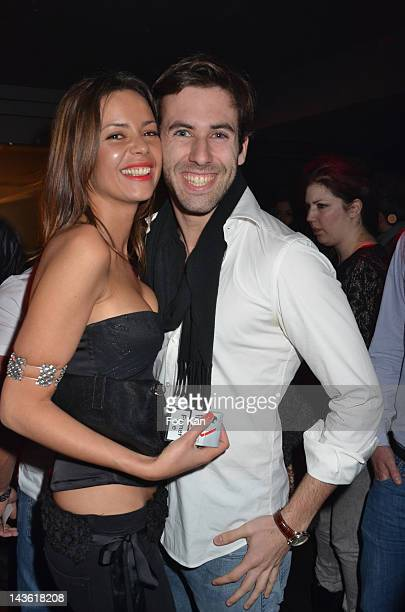 Anissa Bacha and John Culliford from Secret Story 4 attend the 'Marez Birthday Party' at the 1515 Club on April 30 2012 in Paris France