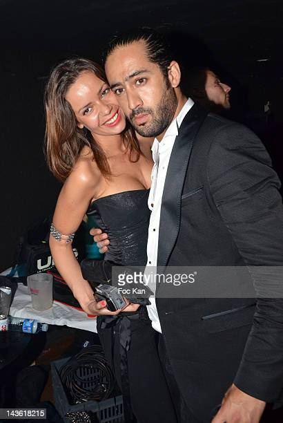 Anissa Bacha and Marez attend the 'Marez Birthday Party' at the 1515 Club on April 30 2012 in Paris France