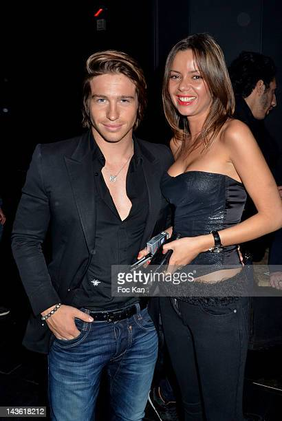 Anissa Bacha and Mickael Vendetta from Secret Story attend the 'Marez Birthday Party' at the 1515 Club on April 30 2012 in Paris France