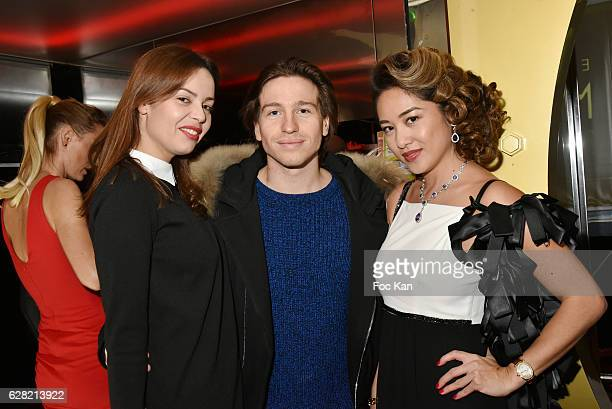 Anissa Bacha Mickael Vendetta and Marjolaine BuiÊattend 'Black Whyte Party' by Edouard Nahum to celebrate his new Jewellery store in Aspen Colorado...