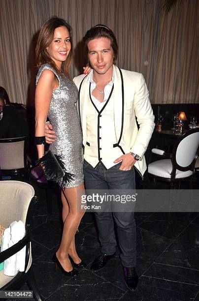 Anissa BachaÊand Mickael Vendetta attend the 'Soiree 2 Mondaines' Dinner at Le Standard Club on March 29 2012 in Paris France