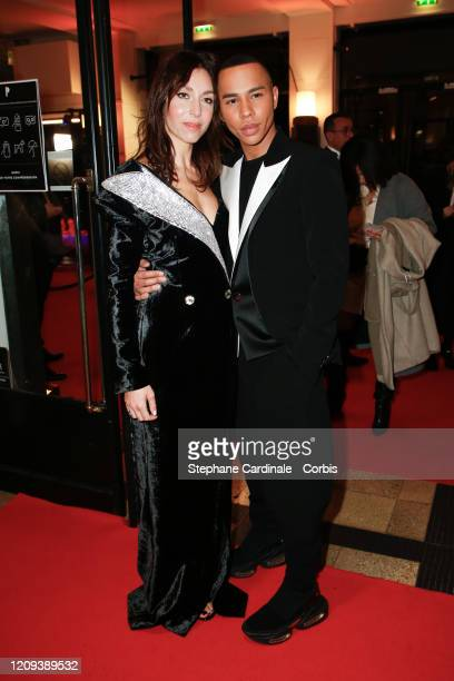 Anissa Bonnefont and Olivier Rousteing arrive at the Cesar Film Awards 2020 Ceremony At Salle Pleyel In Paris on February 28, 2020 in Paris, France.