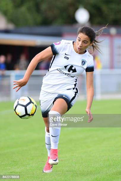 Anissa Lahmari of Paris FC during women's Division 1 match between FC Fleury 91 and Paris FC on September 3 2017 in Fleury Merogis France