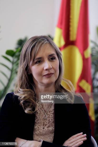 Anita AngelovskaBezhoska governor of the National Bank of the Republic of Macedonia pauses during an interview at the bank's headquarters in Skopje...